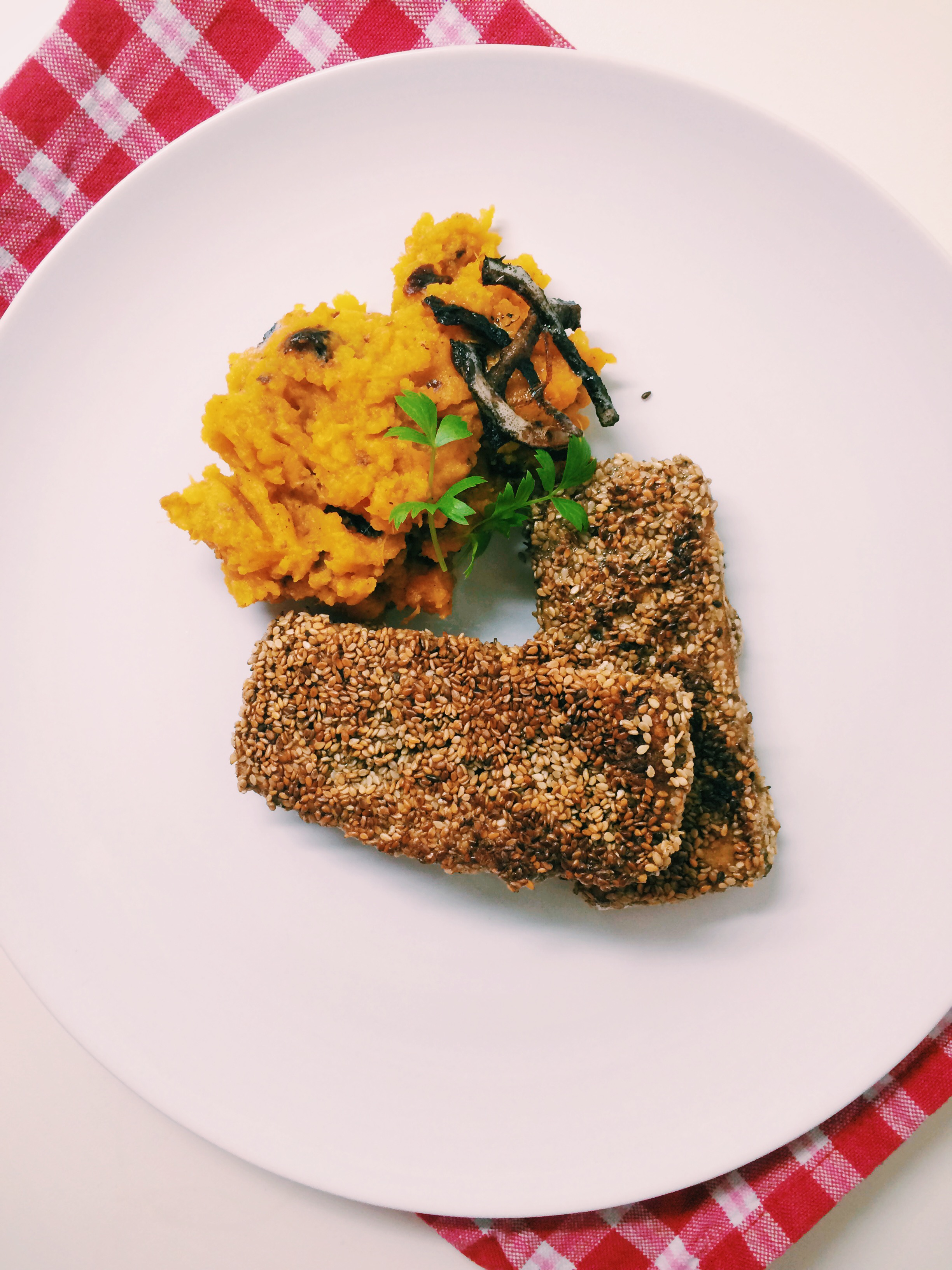Tofu Sesam Schnitzel